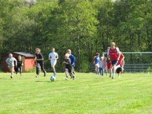 Fotball på leirvikestølen