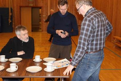 Planlegging av postar: Jon Olav, Kjetil og Sigurd