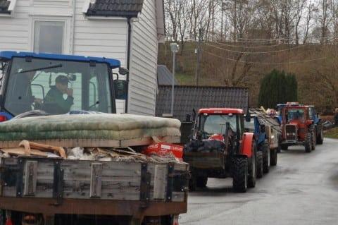 Og så kom traktortoget