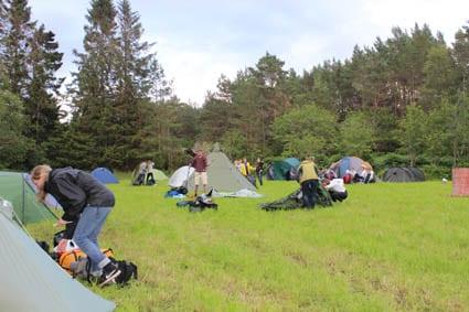 35 teltplassar var bestilt