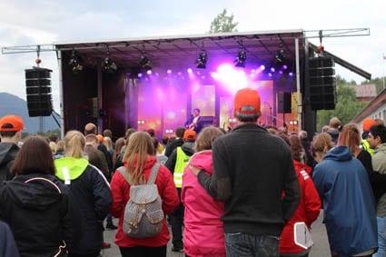 Thomas Dybdahl og publikum