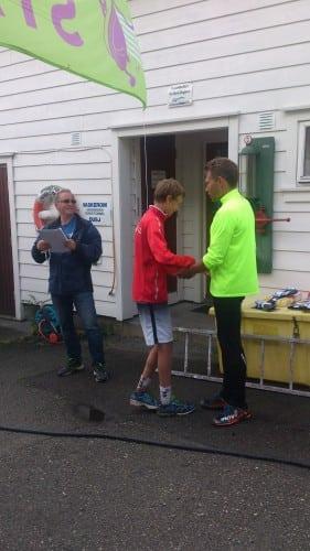 Haakon Huglen mottek 1. premie i barneklassen